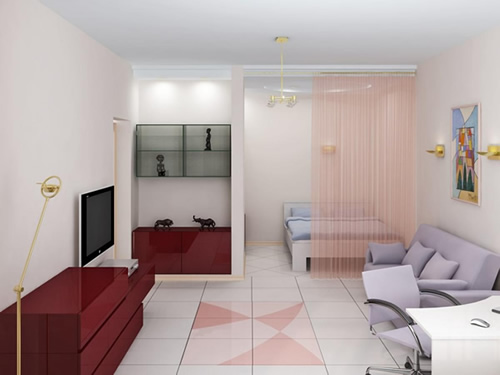 ремонт однокомнатной квартиры с нишей фото